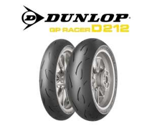 TRENO GOMMA DUNLOP ANTERIORE GP RACER D212 M 120/70 POSTERIORE GP RACER D212 M 190/55