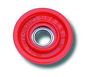 Carrucola in tecnopolimero Domino rosso cross enduro offroad con cuscinetto a sfere per comandi gas 2207.91