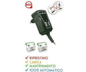CARICABATTERIE SWITCHING AUTOMATICO 1A  6/12V  1.2-60Ah