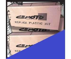 Kit plastiche   BLU cross enduro cemoto per  KTM  EXC 2004 EXCF 2004