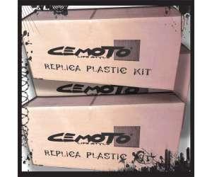 Kit plastiche   ARGENTO cross enduro cemoto per  KTM EXC 1998/2000 EXCF 1998/2000