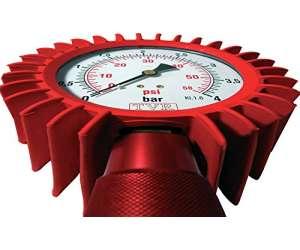 Manometro pressione gomme moto e auto  quadrante 100 mm rosso