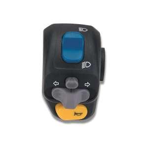 Disopositivo sinistro Domino nero con calotte in tecnopolimero lunghezza cavo 400 mm 0002AA.2A.04-02