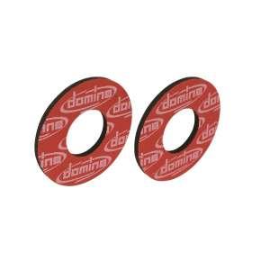 Anelli per flangia manopole Domino cross enduro offroad rossi in gomma termoplastica 0004.26.42.04-0