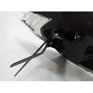 PORTATARGA 4RACING PER  APRILIA RS4  COLORE NERO