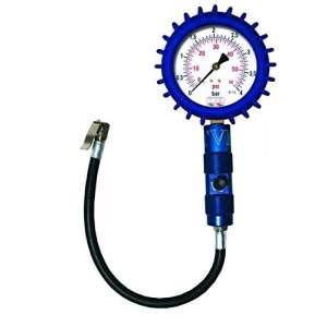 Manometro pressione gomme moto e auto  quadrante 100 mm blu