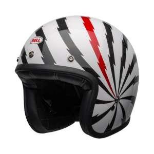 CASCO BELL CUSTOM 500DLXSE VERTIGO WHITE / BLACK / RED